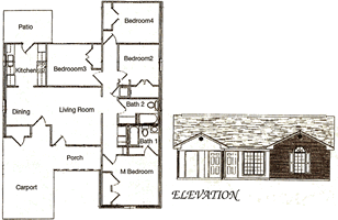 Four Bedroom / Two Bath - 1,671 Sq. Ft.*